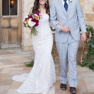Wtoo Pippin Rose Gold and Ivory Wedding Dress